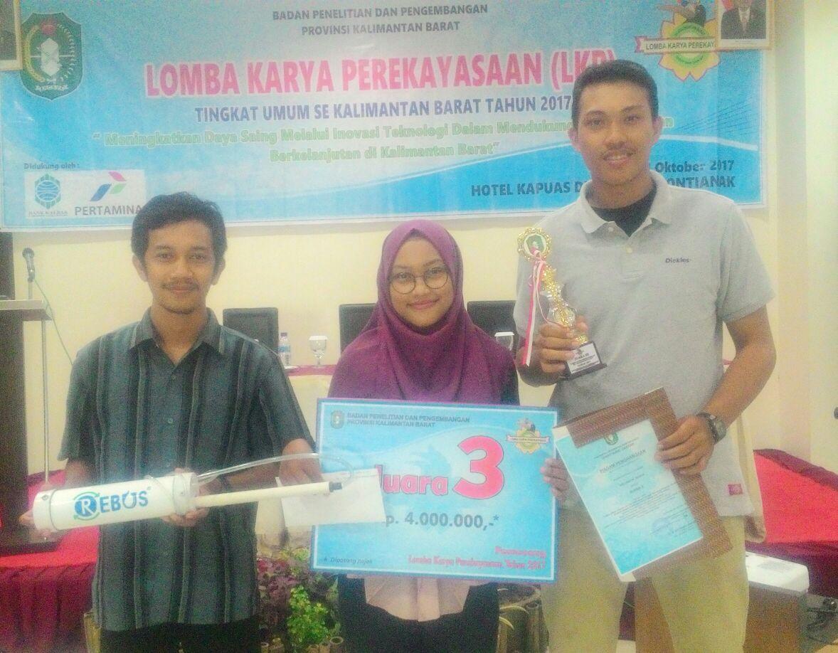 Mahasiswa Teknik Lingkungan Juara 3 LKP Tingkat Umum Se-Kalimantan Barat Tahun 2017