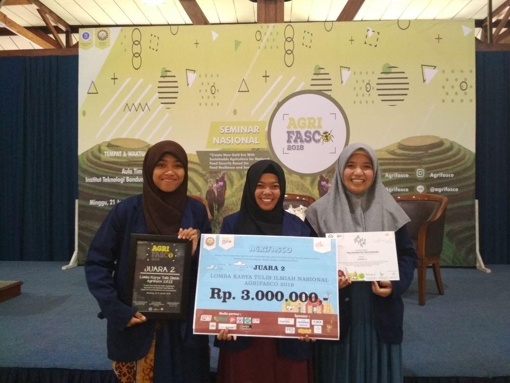 Mahasiswa Faperta Sabet Juara 2 Karya Tulis Ilmiah di ITB