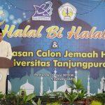 Prof Garuda Wiko Hadiri Halal Bi Halal dan Pelepasan Calon Jemaah Haji Untan