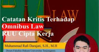Catatan Kritis Terhadap Omnibus Law RUU Cipta Kerja