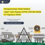 Surat Pengumuman Hasil UTM UNTAN 2020
