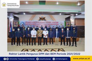 Rektor Lantik Pengurus DPM dan BEM Periode 2021/2022